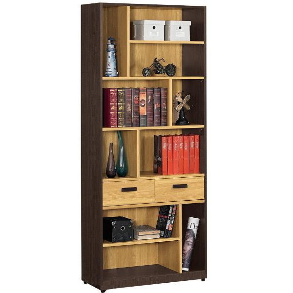 書櫃 書櫥 QW-531-4 費德勒2.6尺雙抽書櫃【大眾家居舘】