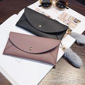 新款女士錢包女長款日韓學生簡約個性多功能超薄錢夾手拿包包 美芭印象