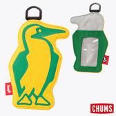 CHUMS 日本 Booby 造型悠遊卡夾 黃/綠 CH602012Y026