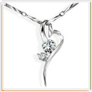 925純銀項鍊-細緻女性飾品墜子生日禮物情人節禮物7g4【巴黎精品】