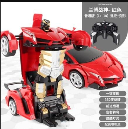 遙控車 玩具車電動遙控汽車遙控變形金剛燈光音樂玩具車男孩【快速出貨八折搶購】