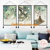 民宿中式中國風背景布掛布掛畫布藝掛毯裝飾畫客廳墻上墻壁【大碼百分百】
