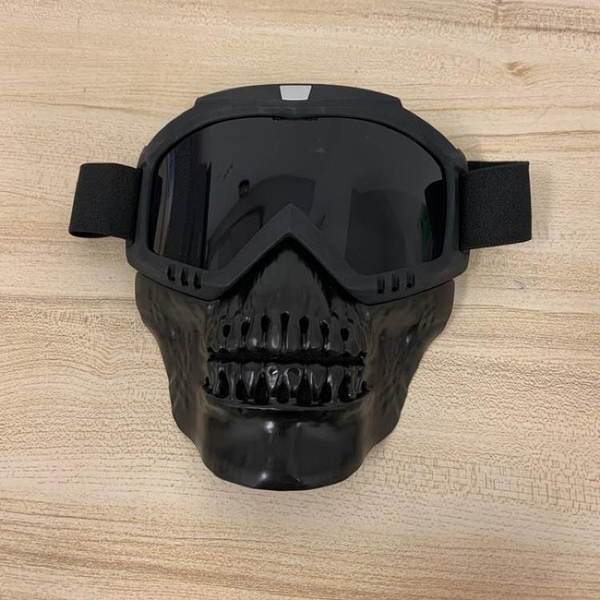 骷髏風鏡面罩越野CS護目鏡復古面具全面罩(19*19/777-4311)