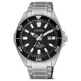 CITIZEN 光動能鈦金屬冒險極致潛水腕錶-銀X黑-BN0200-81E