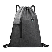 束口袋 定制印字logo束口袋後背包大容量輕便抽繩包袋健身運動旅行收納包 韓國時尚週 免運