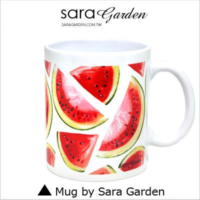 客製 手作 彩繪 馬克杯 Mug 手繪 插畫 水彩 滿版 西瓜  咖啡杯 陶瓷杯 杯子 杯具 牛奶杯 茶杯