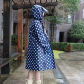 雨衣成人女款韓國時尚徒步雨披戶外單人外套防水衣加大連身小清新  晴光小語