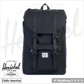 Herschel 後背包 Little America 大型 黑色 小美國筆電後背包 LIL-AMER-535    MyBag得意時袋