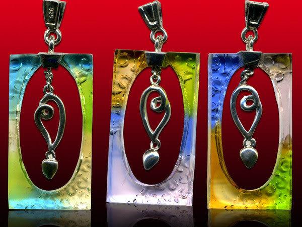鹿港窯~開運古法水晶琉璃銀飾項鍊~心系◆ 附精美包裝◆免運費送到家