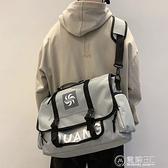 郵差包男士單肩包斜背/側背包電腦潮牌背包日系大容量學生書包手提跨包 電購3C
