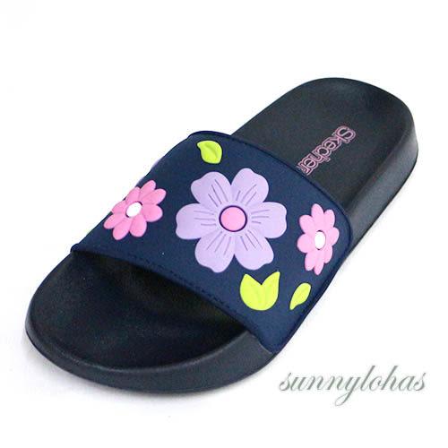 7折SKECHERS (童) 女童系列 拖鞋 SUNNY SLIDES- 86918LNVMT 藍色花朵 [陽光樂活]