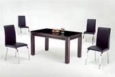 HY-758-4    柏雅Y088黑皮洽談椅 / 餐椅- 不銹鋼腳-單台