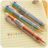 文具 可愛多色圓珠筆 6色 原子筆 簽字筆 圖畫筆 書寫工具 畫圖  彩色筆 【PMG205】123ok