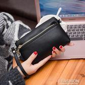 2018新款中年女士雙層長款錢包手拿包女單肩斜跨小包手包零錢包女-Ifashion