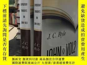 二手書博民逛書店Expository罕見Thoughts on John:Vol
