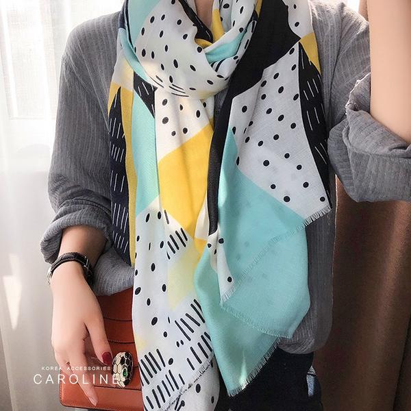 《Caroline》★ 本年度新款秋冬百搭仿羊絨披肩  質地細膩舒適柔軟兩用圍巾71743