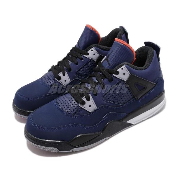 Nike Air Jordan 4 Retro PS WNTR 藍 黑 喬丹 四代 童鞋 中童鞋【PUMP306】 BQ7669-401