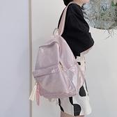 後背包 韓國個性鐳射反光後背包女 ins簡約百搭電腦旅行背包學生港風書包 嬡孕哺 免運