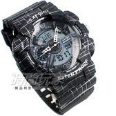 EXPONI 線條 雙顯腕錶 男錶 黑 E3187黑大 男錶/學生錶/中性錶/運動錶/軍錶/韓版/韓國