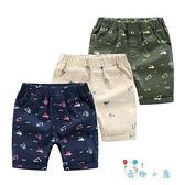 兒童短褲外穿休閒寶寶薄款印花韓版小童【奇趣小屋】