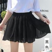 時尚薄款透氣雪紡短褲裙女2019夏季新款韓版高腰寬鬆荷葉邊闊腿褲 CJ3045『美好時光』