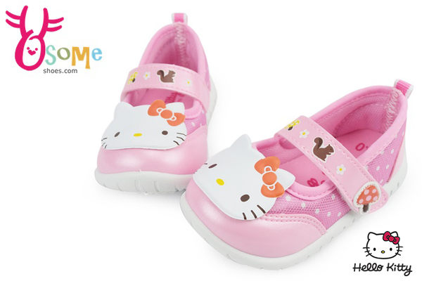 Hello kitty休閒鞋 台灣製 凱蒂貓造型娃娃鞋G7938#粉紅◆OSOME奧森童鞋/小朋友