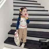 女童毛衣套頭童裝寶寶卡通針織衫兒童長袖打底衫【左岸男裝】