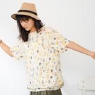 【慢。生活】狐狸之森棉料寬版圓領上衣 12646 FREE杏色