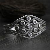 純銀手環(泰銀)-獨特造型生日情人節禮物女手鐲73gg120【時尚巴黎】