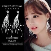 顯臉瘦的耳環女氣質韓國個性百搭超仙羽毛耳墜長款純銀耳飾潮