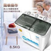 8.5公斤大容量家用雙桶雙缸半全自動波輪洗衣機小型宿舍 YTL LannaS