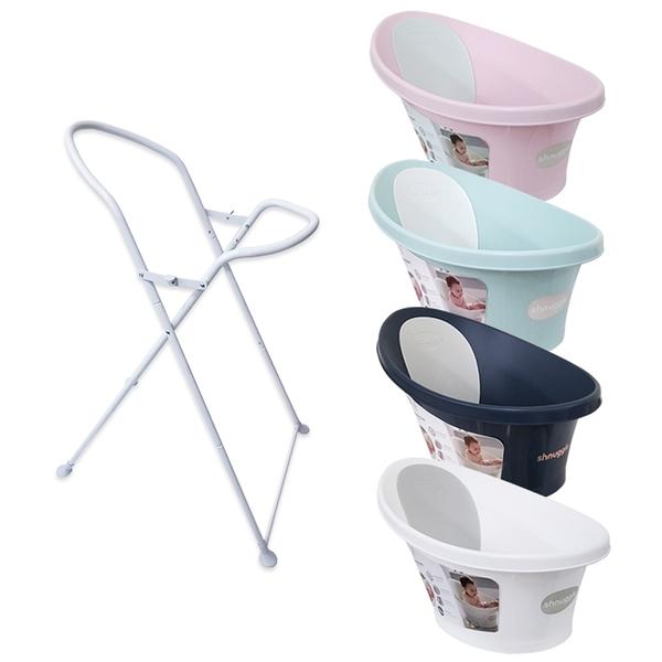 英國Shnuggle 澡盆/浴盆(月亮/洗澡神器)新增排水孔設計(水塞版)+專用架/合購價[衛立兒生活館]