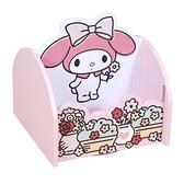 小禮堂 美樂蒂 造型木質旋轉收納盒 (粉花盆款) 4710374-19230