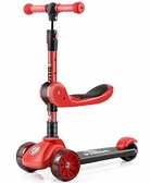 兒童滑板 滑板車兒童溜溜車寶寶單腳滑滑車2-6-8歲以上可坐可騎三合一【快速出貨八折下殺】
