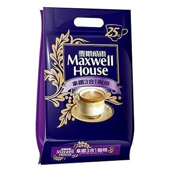 麥斯威爾拿鐵三合一咖啡14Gx25【愛買】