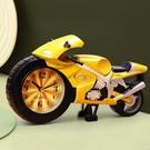 鬧鐘 摩托車小鬧鐘學生用男孩專用兒童時鐘卡通創意可愛迷你鬧鈴床頭鐘【快速出貨八折鉅惠】