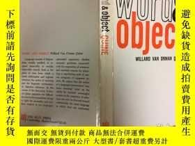 二手書博民逛書店Word罕見and Object (The MIT Press)