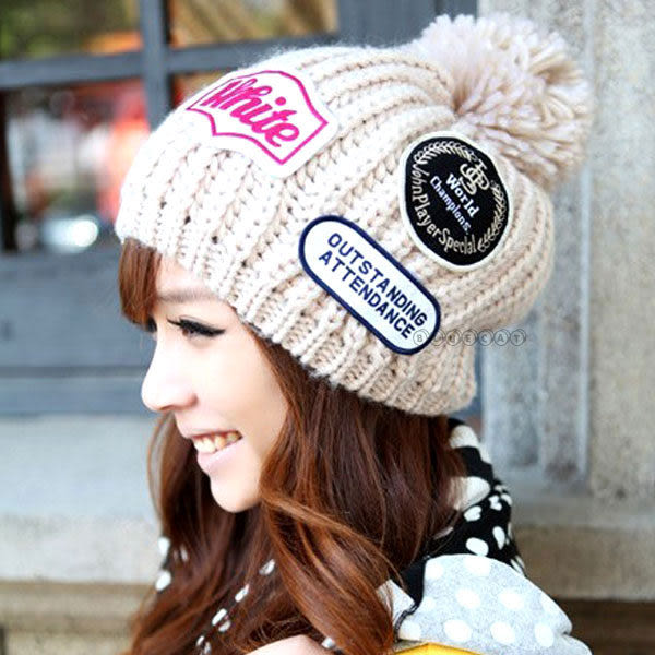 【BlueCat】擄獲您心 韓國超人氣帝國三徽章情侶毛球毛帽