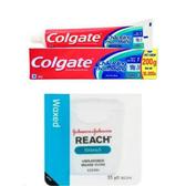 Colgate 三效合一牙膏(200g*12)+REACH牙線*3