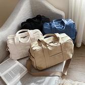 2020新款休閒手提包行李收納大容量旅行袋男短途單肩簡約帆布包潮 蘇菲小店