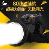 頭燈 超亮強光遠射led戶外頭燈充電夜釣頭戴式鋰電手電筒防水 城市科技