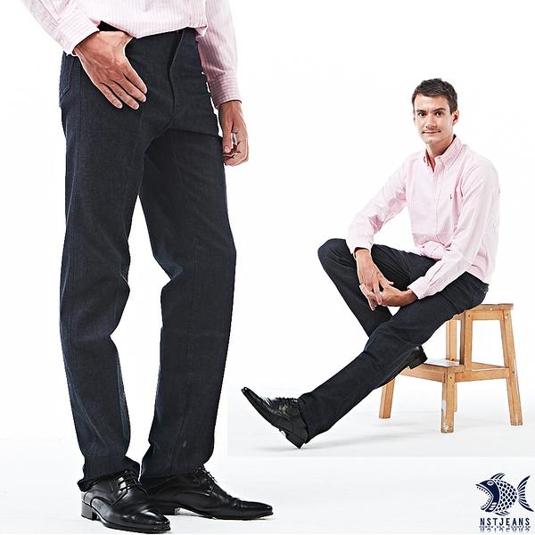 【NST Jeans】Ultra black沉穩內斂 黑丹寧男褲(中腰) 390(5703) 台製 紳士 男 四季款