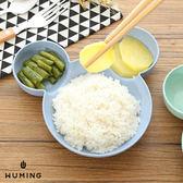 米奇造型 小麥秸稈 兒童 餐盤 餐具 分格餐盤 環保 天然 無毒 北歐風 『無名』 M09118