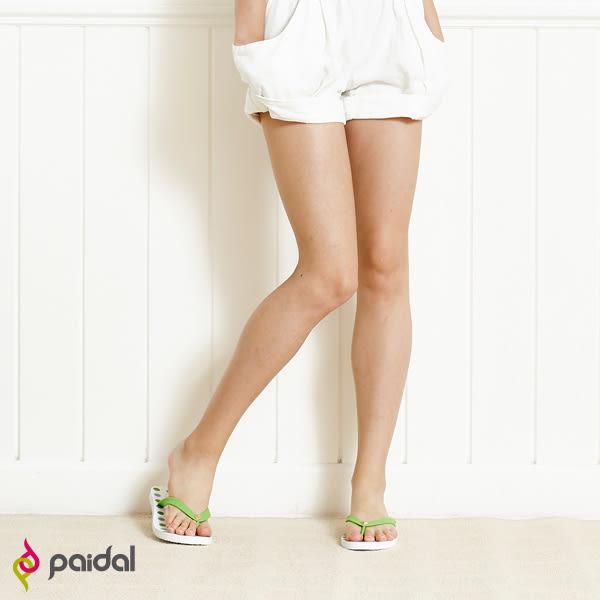 Paidal 熱力圓點點夾腳涼拖鞋-綠