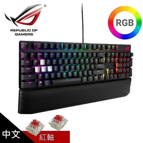 【ASUS 華碩】ROG Strix Scope Deluxe RGB 機械式電競鍵盤 (中文 紅軸)