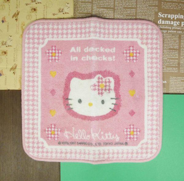 【震撼精品百貨】Hello Kitty 凱蒂貓~車用墊~粉千鳥格圖案