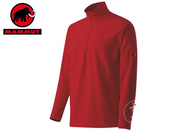 丹大戶外用品【MAMMUT】瑞士長毛象Yukon Trim Men 男款休閒保暖套衫 型號1040-00120-3225 紅