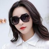 墨鏡女新款女士偏光太陽鏡防紫外線眼鏡明星款時尚圓長臉大框 極簡雜貨