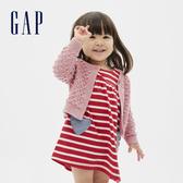 Gap嬰兒 可愛針織球裝飾拉鍊針織衫 593691-粉色