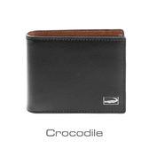 Crocodile 義大利植鞣皮革 真皮短夾 Titanium系列-上翻子夾款-0103-07803-01
